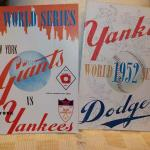 """ 1951 & 1952 World Series Baseball Champion Programs""./ Giants vs Yankees and Y"