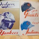 """ 1953 & 1954 World Series Baseball Programs/ Dodgers vs Yankees and Giants vs I"