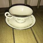 Lenox China Brookdale Daisy Pattern Cup and Saucer - Item # 192