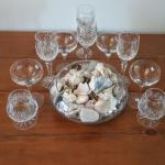 Lot 17 DR: Stemware Sets and Decorative Shell Bowl