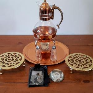 Photo of Lot 10: candle coffee/teapot and more