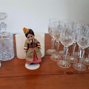 Photo of Lot 8 DR: Taiwanese doll and Glasswear