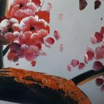 Lot 4: 4 Panel Cherry Blossom Painting