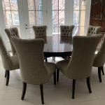 Gorgeous Round Dining Room Table & 8 Chairs
