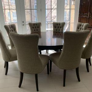 Photo of Gorgeous Round Dining Room Table & 8 Chairs