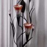 Dawn Lillies Candle Wall Sconce