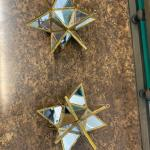 Mirrored Star Ornaments, set of 2
