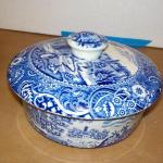 """"""" W.R. Midwinter Landscape servingnbowl with cover 7in."""""""