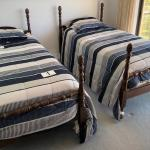 LOT#1MB1: Pair of Posted Twin Beds