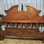Lot #88 Queen/Full Headboard & footboard - also the rails - complete