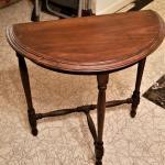 Lot #96  Classic vintage Demi-lune table