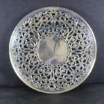 LOT#203J: Marked Sterling Pierced Dessert Platter (265 grams)