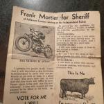 Frank Mortier for Sheriff