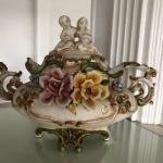 Florentine Capodimonte Style Flower and Cherub Soup Tureen Urn YD#022-0154