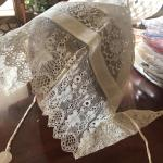 Sweet find lace antique bonnet