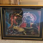 "Lot 140. Limited edition serigraph by Oleg Zhivetin titled ""Conversation""; i"
