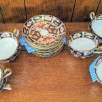 Set of 12 Royal Crown Derby Imari 2451 Teacups and Saucers 1927