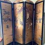 Folding Screen/Room Divider Oriental motif