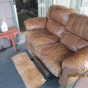 Photo of DUAL SOFT LEATHER RECLINER