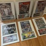 Lot of 6 New England Patriots Photo/Poster & Cancelled Stamp Card