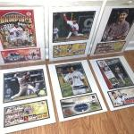 Lot of 6 Boston Ted Sox Photo/Poster & Cancelled Stamp Card