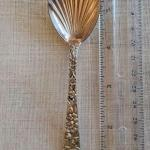 Kirk & Son repousse shell sugar spoon. Sterling silver. SHIPPING AVAILABLE