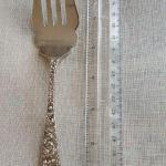 "Stieff Rose Cold Meat fork approx 7 5/8"" No Mono Sterling Repousse Shipping avai"