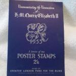 """ H.M. Queen Elizabeth 11 1953 / Series of ten Poster Stamps."