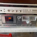 G 1036 Harmon Kardon Receiver & Sanyo Cassette Player