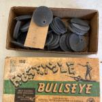 G1040 Box of Vintage 1940's Bustible Bullseye Targets NRA