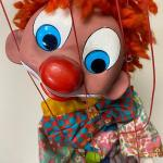 "Vintage Large Pelham 30"" Marionette Puppet Googly Eye Hobo Clown Ventriloquist Y"