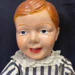 Antique Jointed Straw Filled Composite Doll YD#020-1220-01184