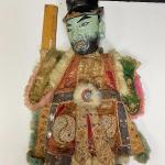 Vintage Chinese Opera Hand Glove Puppet Man in Hat YD#020-1220-00141