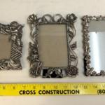 Set of 3 Small Metal Decorative Picture Frames