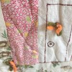 Vintage Patchwork Quilt/Blanket - Home Sweet Home Quilt.