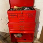 Roll Around Tool Chest and Top Box + Contents