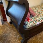 Antique Mahogany sleigh style day bed