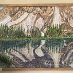 Painting of Lake near Mountain