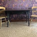 Space Saver Drop Leaf Table and two Chairs