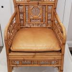 Maitland Smith Bamboo Cane/Leather Chair