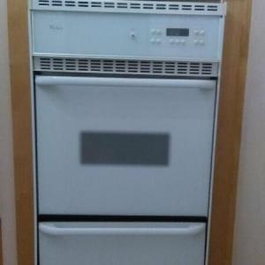 Photo of Whirlpool 24 inch built in gas Wall Oven.  Works well and