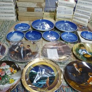Photo of Mint condition, Bing and Grondahl Plates and others Norman Rockwell...