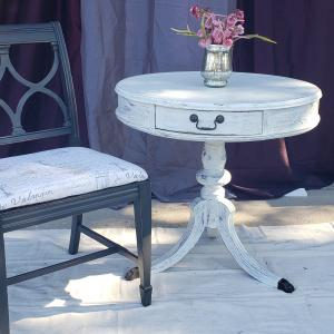 Photo of Round Side Table & Side Chair