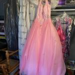 Pink Puffy Prom Dress