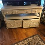 "TV storage cabinet with 50""tv"