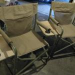 2 - Camp Chairs With Side Table And Pockets