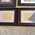 Two brown picture frames