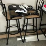 Foldable High Chair and 2 bar stools