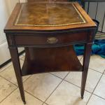 Antique Leather top federal table