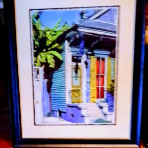 Photo of Two New Orleans house fronts by John Boles